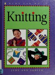 Cover of: Knitting