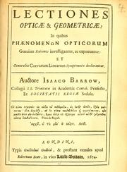 Cover of: Lectiones opticæ & geometricæ