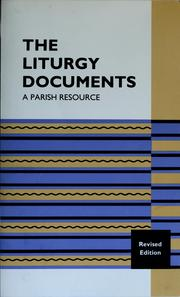 Cover of: The liturgy documents