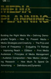 Cover of: Media planning