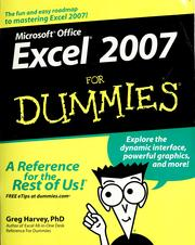 Cover of: Microsoft Office Excel 2007 for dummies