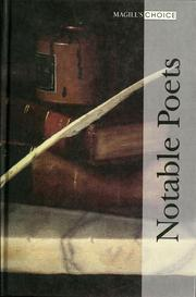 Cover of: Notable poets |
