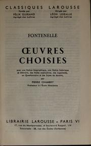 Cover of: Oeuvres choisies