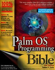 Palm OS programming bible by Lonnon R. Foster