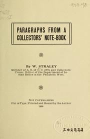 Cover of: Paragraphs from a collectors