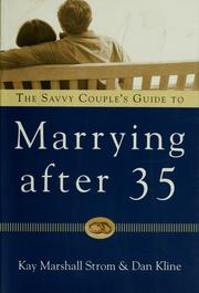 Cover of: The savvy couples' guide to marrying after 35