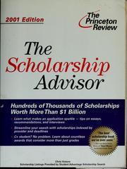Cover of: The scholarship advisor | Christopher Vuturo