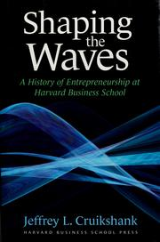 Cover of: Shaping the waves | Jeffrey L. Cruikshank