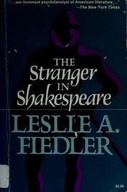 Cover of: Stranger in shakespeare