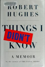Cover of: Things I didn't know