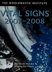 Cover of: Vital signs 2007-2008