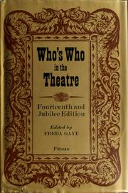 Cover of: Who's who in the theatre | John Parker