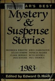 Cover of: The Year's best mystery & suspense stories 1983