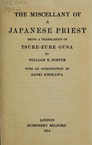 Cover of: The miscellany of a Japanese priest