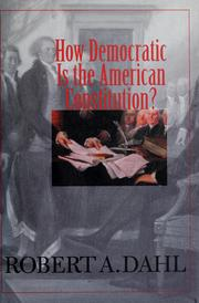 Cover of: How democratic is the American Constitution?