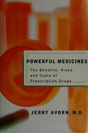 Cover of: Powerful medicines