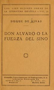Cover of: Don Alvaro; o la fuerza del sino