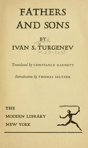 Cover of: Fathers and sons | Ivan Sergeevich Turgenev