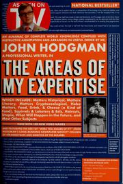 Cover of: The areas of my expertise