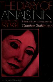 Cover of: The diary of Anaïs Nin