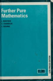 Further pure mathematics 1985 edition open library cover of further pure mathematics l bostock fandeluxe Image collections