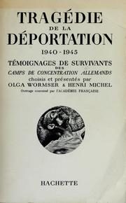 Cover of: Tragédie de la déportation 1940-1945