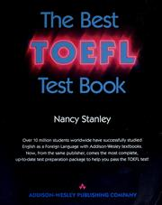 Cover of: The best TOEFL test book | Nancy Stanley