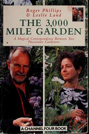 Cover of: The 3000-mile garden