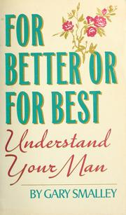 Cover of: For better or for best