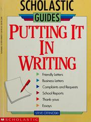 Cover of: Put it in writing