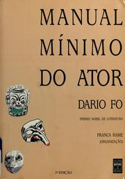 Cover of: Manual mínimo do ator