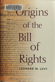 Cover of: Origins of the Bill of Rights