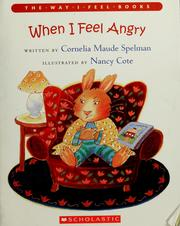 Cover of: When I feel angry