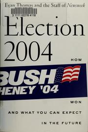 Cover of: Election 2004
