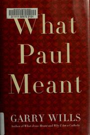 Cover of: What Paul Meant