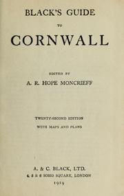 Cover of: Black's guide to Cornwall by Adam and Charles Black (Firm)
