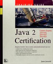 Cover of: Java 2 certification training guide