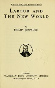 Cover of: Labour and the new world