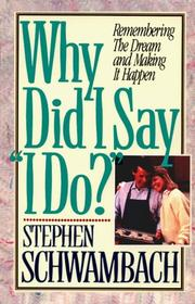 "Cover of: Why did I say ""I do""?"