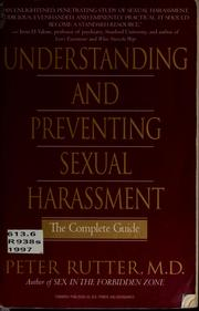 Cover of: Understanding & preventing sexual harassment | Peter Rutter