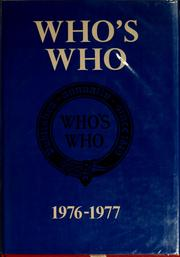 Cover of: Who's who, 1976-1977 |