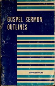 Cover of: Gospel sermon outlines | George Brooks
