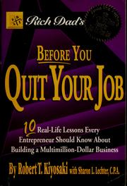 Cover of: Rich dad's Before you quit your job