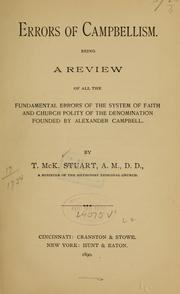 Cover of: Errors of Campbellism... | T. McK Stuart