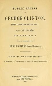 Cover of: Public papers of George Clinton