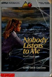 Cover of: Nobody listens to me