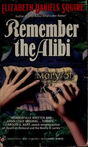 Cover of: Remember the alibi