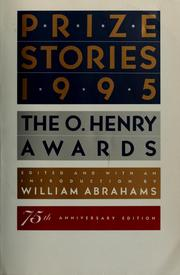 Cover of: Prize stories 1995 | William Miller Abrahams