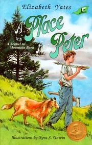 Cover of: A place for Peter