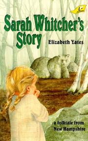 Cover of: Sarah Whitcher's story